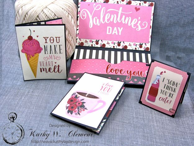 Hugs and Kisses Valentine Wallet Hello Sweetheart by Kathy Clement Valentine Gallery Post Product by Carta Bella Photo 4