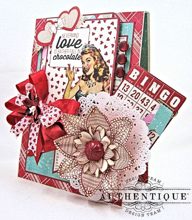 Lovestruck Sassy Valentine Card Folio Lovestruck by Kathy Clement Product by Authentique Photo 3