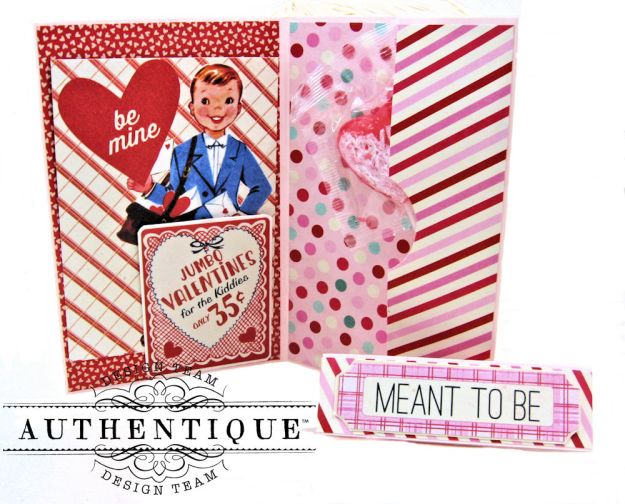 Valentine Treat Wallet Lovestruck by Kathy Clement Product by Authentique Photo 3