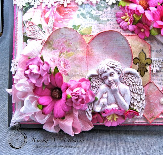 Old World Vintage Style Valentine Folio Heart Painted by Kathy Clement Product by Lemon Craft Photo 3