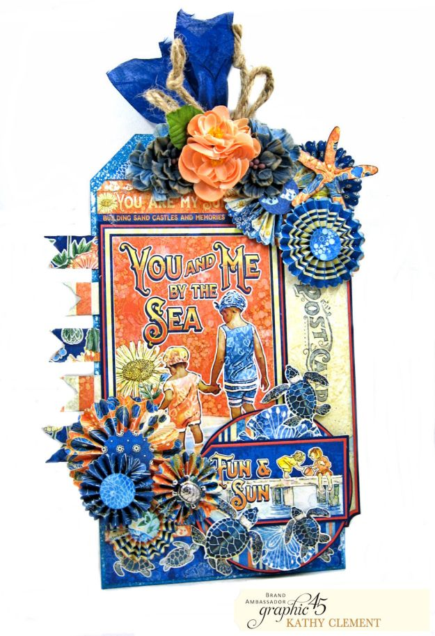Sun Kissed Jumbo Tag Sun Kissed by Kathy Clement Product by Graphic 45 Photo 2