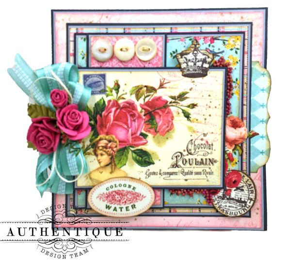 Authentique Dame Easel Cards Tutorial by Kathy Clement Photo 2