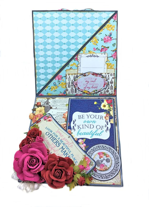 Authentique Dame Easel Cards Tutorial by Kathy Clement Photo 5