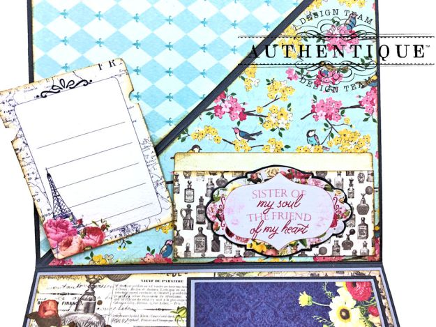 Authentique Dame Easel Cards Tutorial by Kathy Clement Photo 6