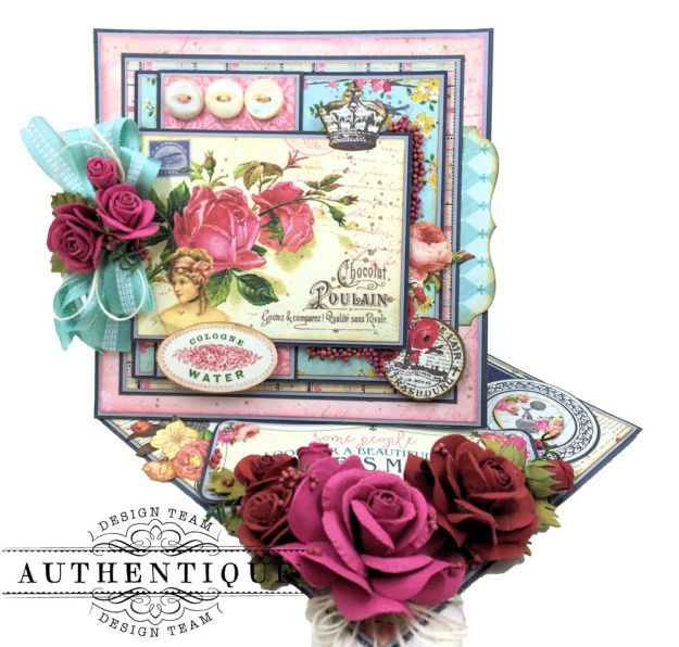 Authentique Dame Easel Cards Tutorial by Kathy Clement Photo 3