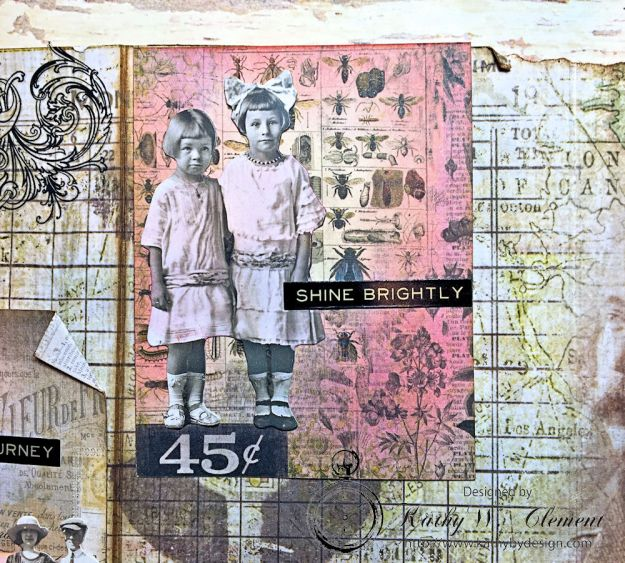 Dragonfly Discover Junk Journal Wallflower by Kathy Clement for Frilly and Funkie Product by Tim Holtz Photo 16