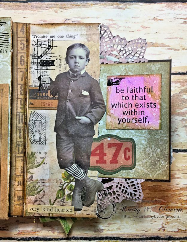 Dragonfly Discover Junk Journal Wallflower by Kathy Clement for Frilly and Funkie Product by Tim Holtz Photo 7