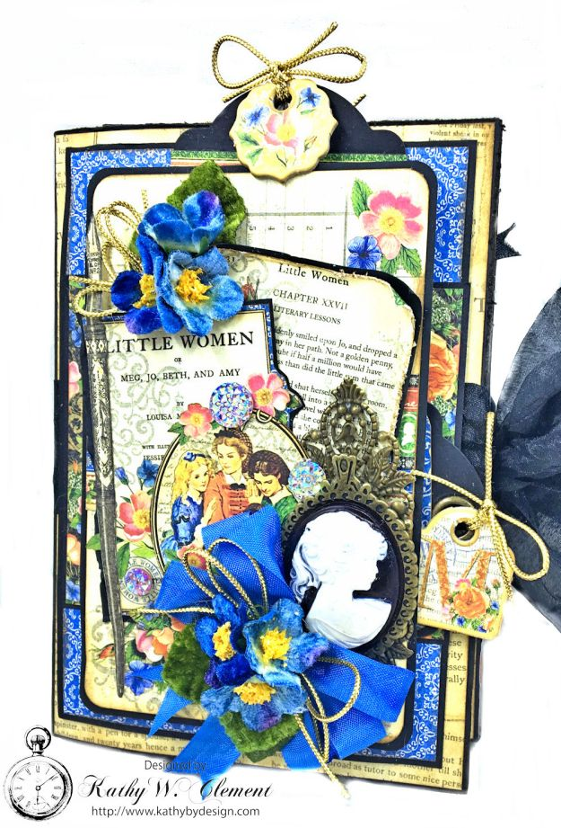 Graphic 45 Little Women Interactive Folio by Kathy Clement for Get in on the Action Challenge at Frilly and Funkie Photo 02