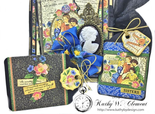 Graphic 45 Little Women Interactive Folio by Kathy Clement for Get in on the Action Challenge at Frilly and Funkie Photo 05