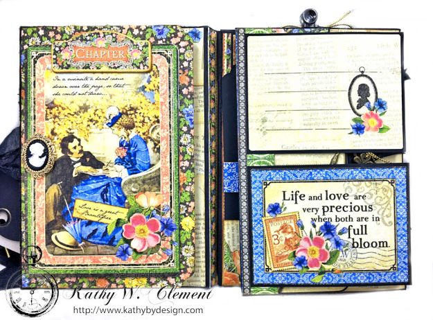 Graphic 45 Little Women Interactive Folio by Kathy Clement for Get in on the Action Challenge at Frilly and Funkie Photo 07
