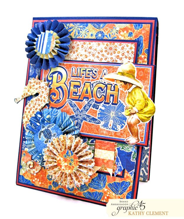 Graphic 45 Sun Kissed Life is a Beach Card Folio Sun Kissed by Kathy Clement Product by Graphic 45 Photo 2