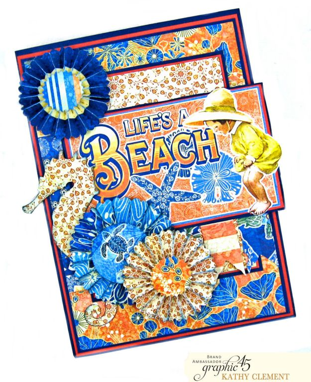 Graphic 45 Sun Kissed Life is a Beach Card Folio Sun Kissed by Kathy Clement Product by Graphic 45 Photo 4