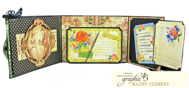 Graphic 45 Something Splendid Trifold Folio Little Women by Kathy Clement Product by Graphic 45 Photo11
