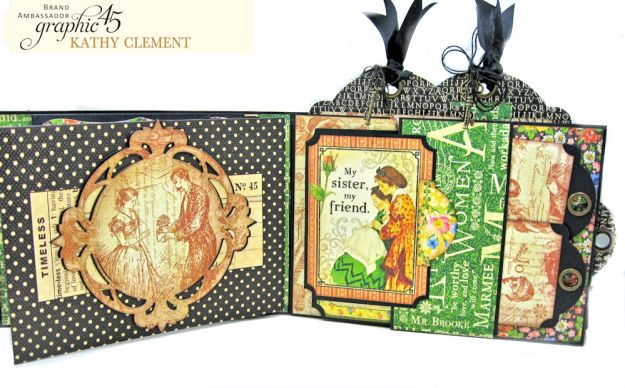 Graphic 45 Something Splendid Trifold Folio Little Women by Kathy Clement Product by Graphic 45 Photo 9