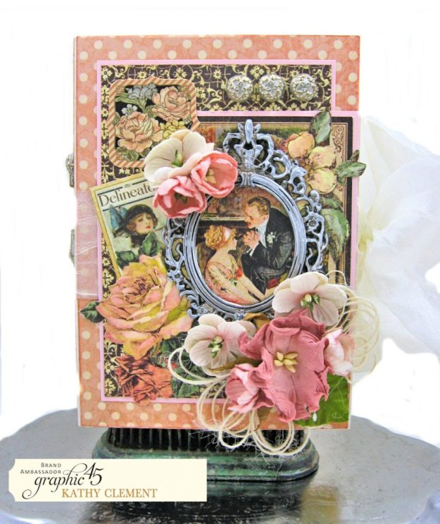 Love Sweet Love Altered Truffle Box Tutorial A Ladies Diary by Kathy Clement Product by Graphic 45 Photo 3