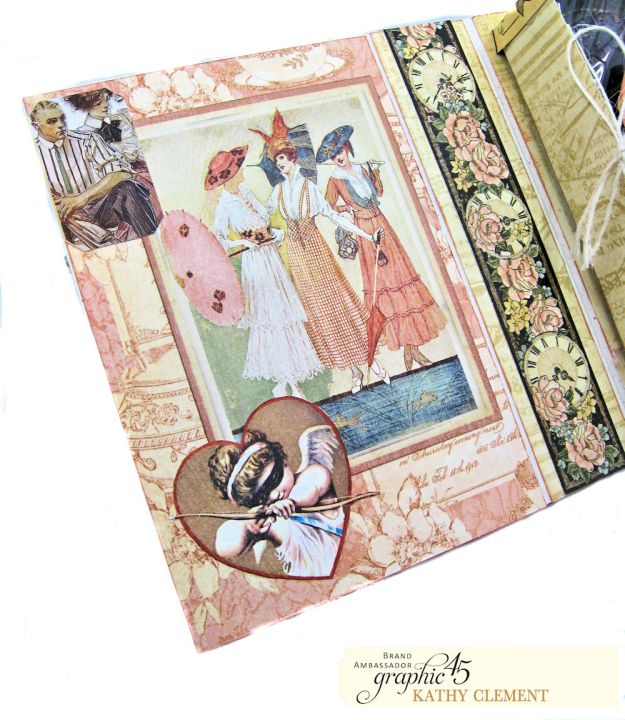 Love Sweet Love Altered Truffle Box Tutorial A Ladies Diary by Kathy Clement Product by Graphic 45 Photo 10