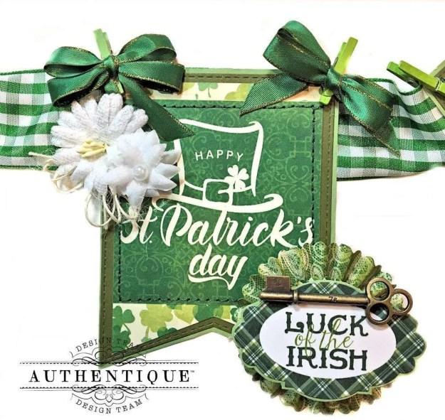 Authentique Shamrock Saint Patrick's Day Home Decor by Kathy Clement Photo 5