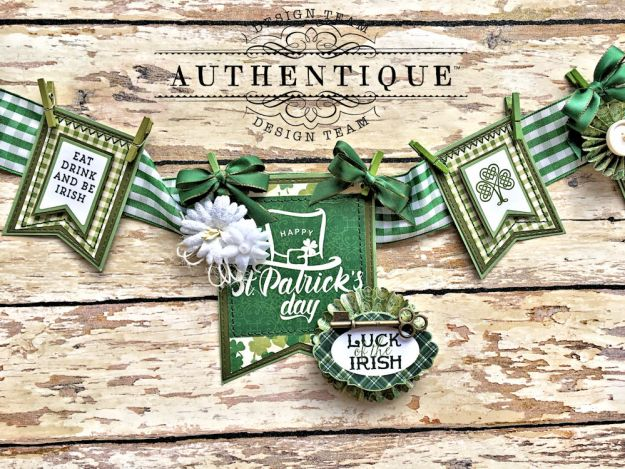 Authentique Shamrock Saint Patrick's Day Home Decor by Kathy Clement Photo 4