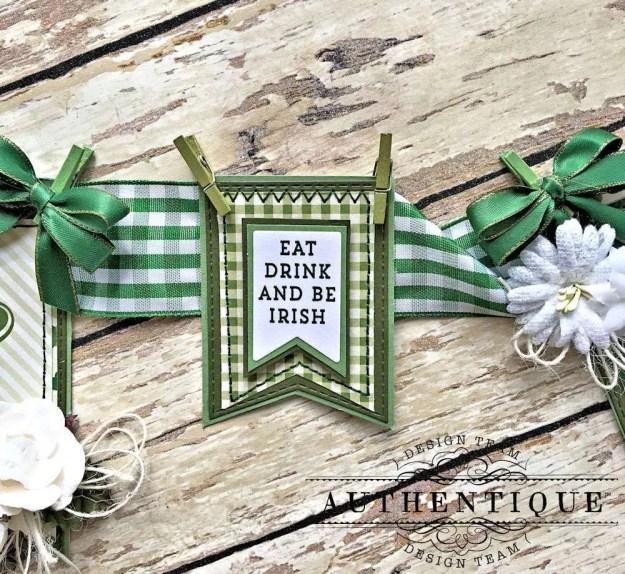 Authentique Shamrock Saint Patrick's Day Home Decor by Kathy Clement Photo 6