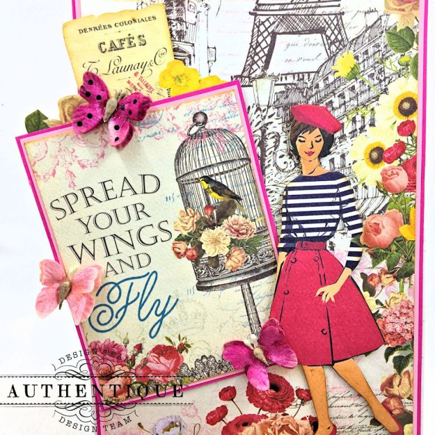 Authentique Dame Easel Cards Tutorial by Kathy Clement Photo 10