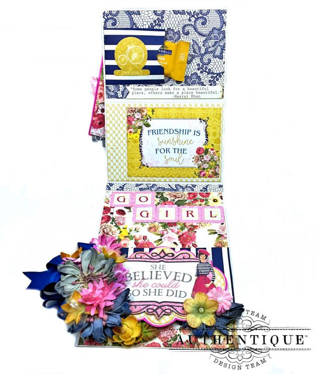 Authentique Dame Easel Cards Tutorial by Kathy Clement Photo 11