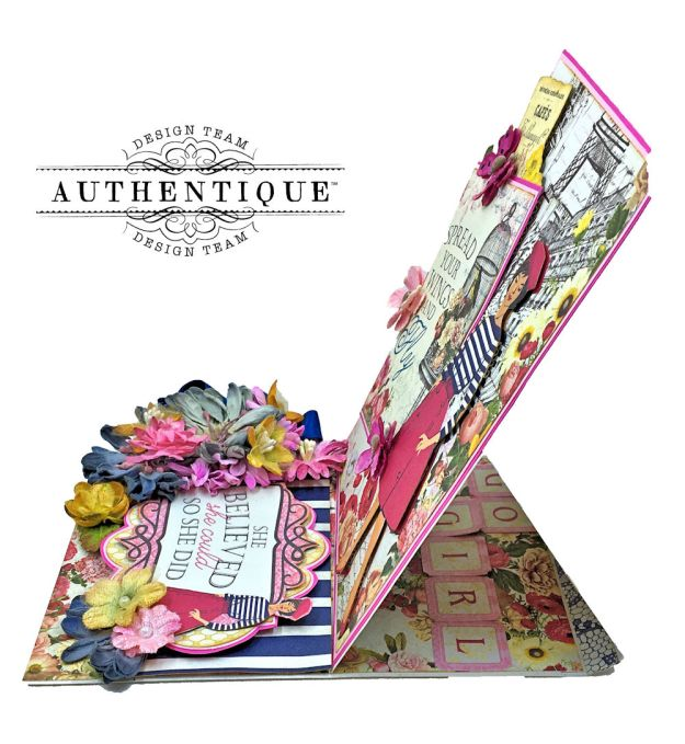 Authentique Dame Easel Cards Tutorial by Kathy Clement Photo 8