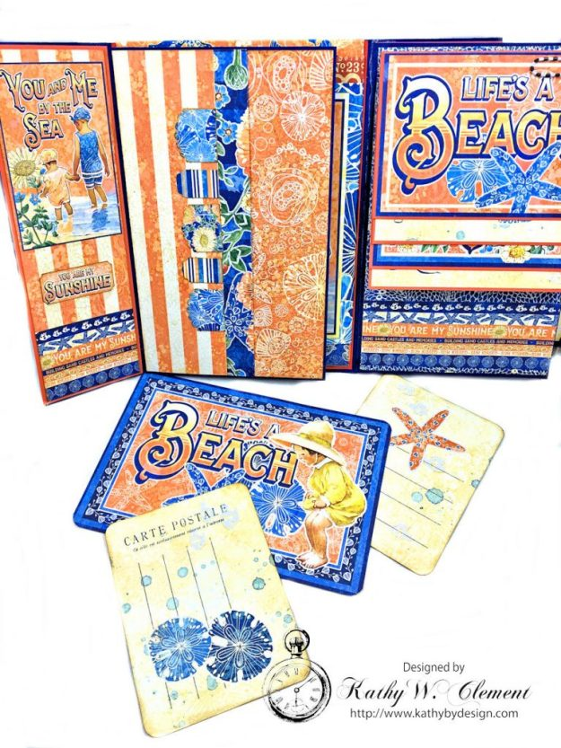 Beach Walk Flap Folio Sun Kissed by Kathy Clement for The Funkie Junkie Boutique Product by Graphic 45 Photo 12