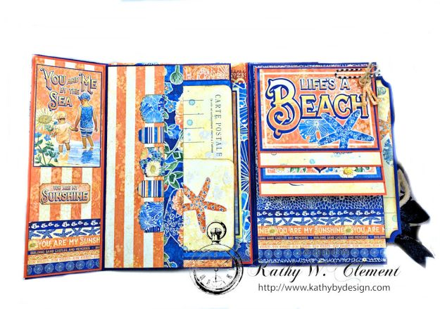 Beach Walk Flap Folio Sun Kissed by Kathy Clement for The Funkie Junkie Boutique Product by Graphic 45 Photo11