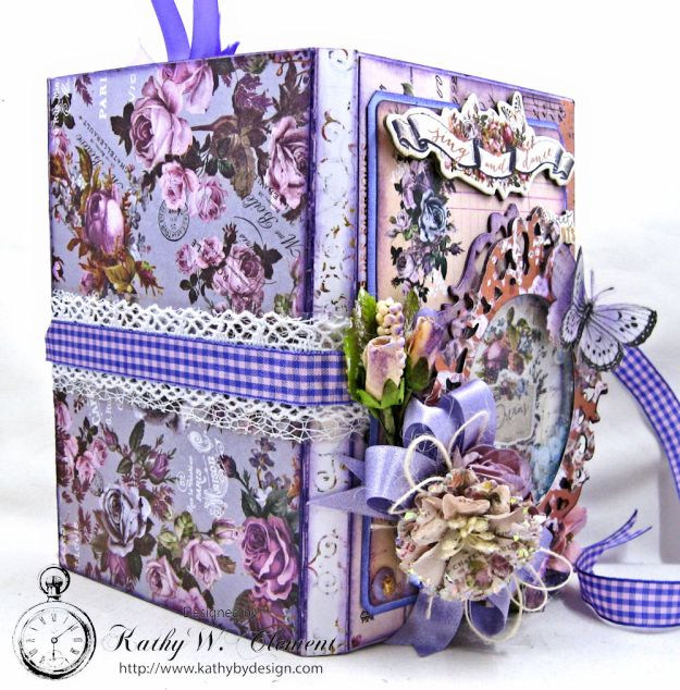 Prima Lavender Blooming Marvelous Flip Folio by Kathy Clement for The Funkie Junkie Boutique Photo 06