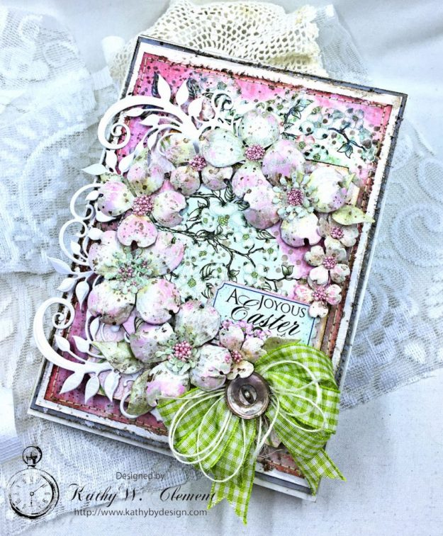 Heartfelt Easter Dogwoods Greeting Card Flowering Dogwood by Kathy Clement Product by Heartfelt Creations Photo 01a