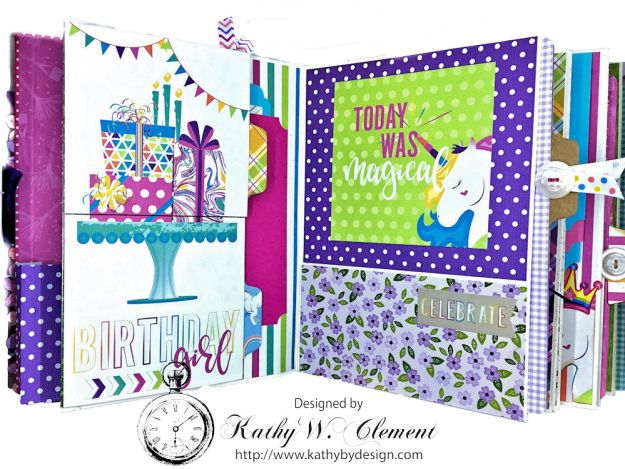 Magical Unicorn Princess Mini Album Cake by Kathy Clement for Really Reasonable Ribbon Product by Photoplay Photo 07
