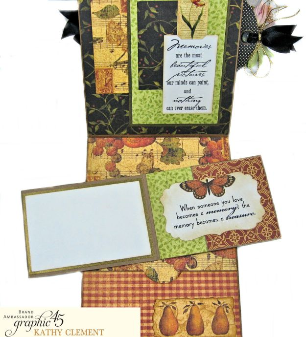 Graphic 45 Botanicabella Sympathy Card Botanicabella by Kathy Clement Product by Graphic 45 Photo 07