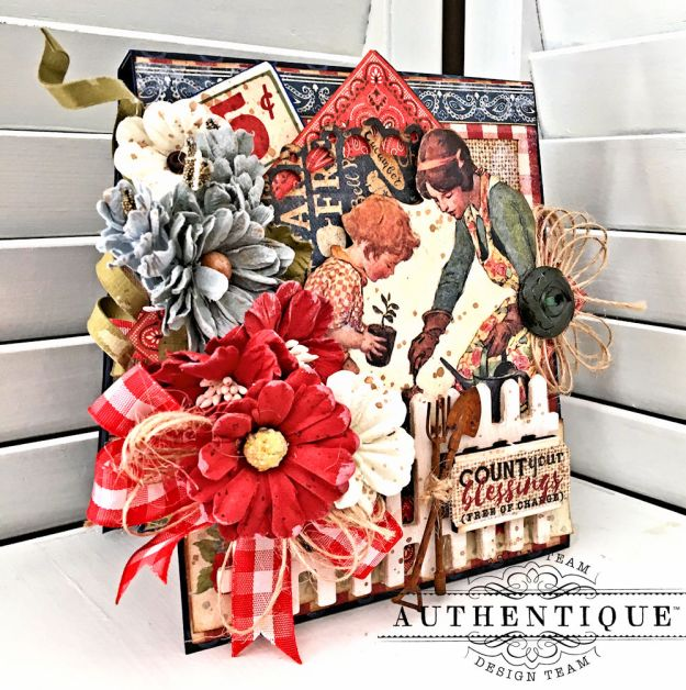 Country Blessings Folio Tutorial Frontier by Kathy Clement Product by Authentique Paper Photo 04