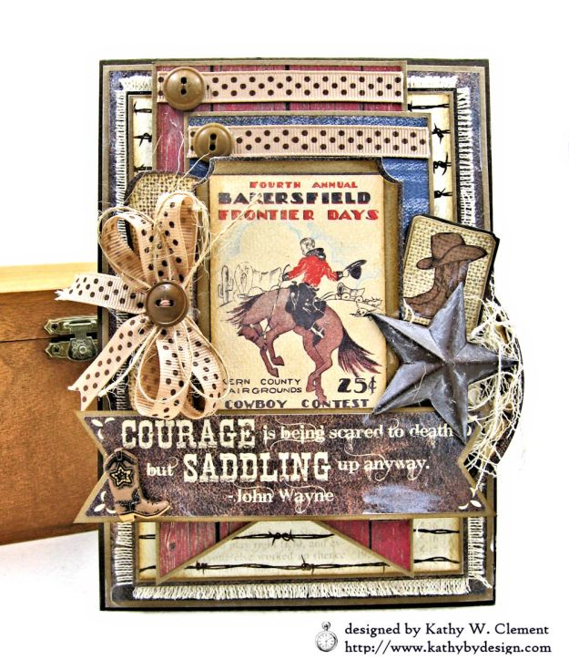 Ride em Cowboy Masculine All Occasion Card by Kathy Clement Photo 01