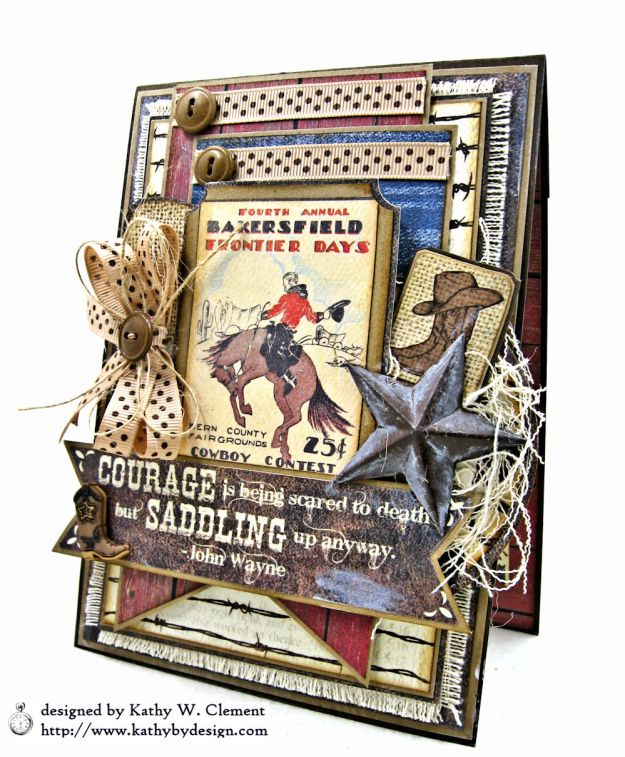Ride em Cowboy Masculine All Occasion Card by Kathy Clement Photo 03