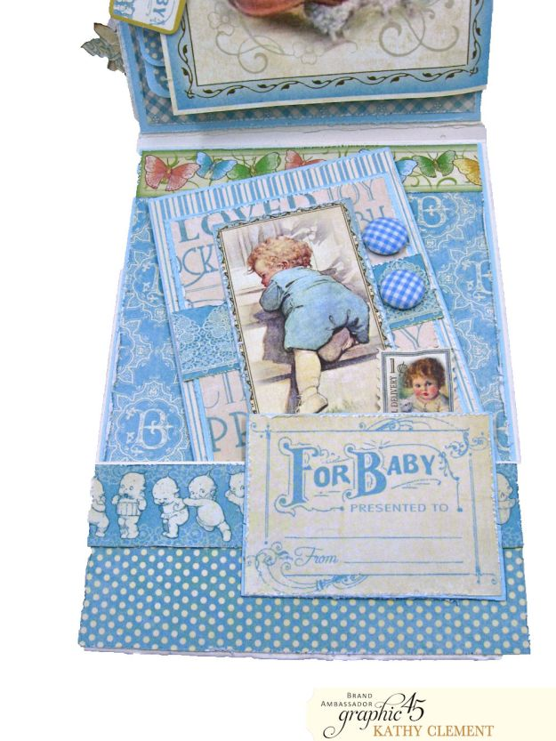 Graphic 45 Little Darlings Little Boy Blue Card Folio Little Darlings by Kathy Clement Product by Graphic 45 Photo 08