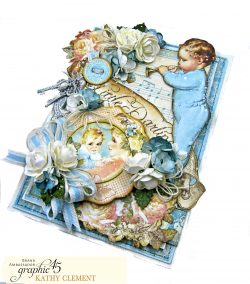 Graphic 45 Little Darlings Little Boy Blue Card Folio Little Darlings by Kathy Clement Product by Graphic 45 Photo 09