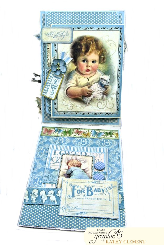 Graphic 45 Little Darlings Little Boy Blue Card Folio Little Darlings by Kathy Clement Product by Graphic 45 Photo 06