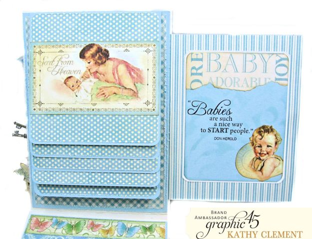 Graphic 45 Little Darlings Little Boy Blue Card Folio Little Darlings by Kathy Clement Product by Graphic 45 Photo 07
