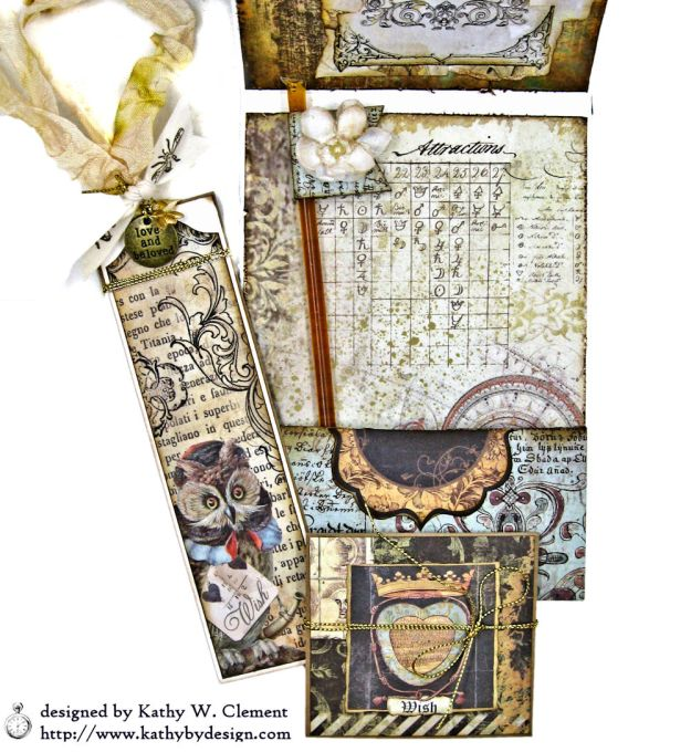 Mixed Media Honeybee All Occasion Shaker Card Alchemy by Kathy Clement Product by Stamperia Photo 08