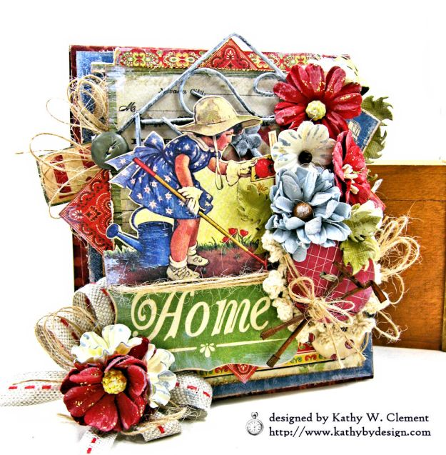 Authentique Frontier My Country Home Vintage Style Folio by Kathy Clement Photo 01