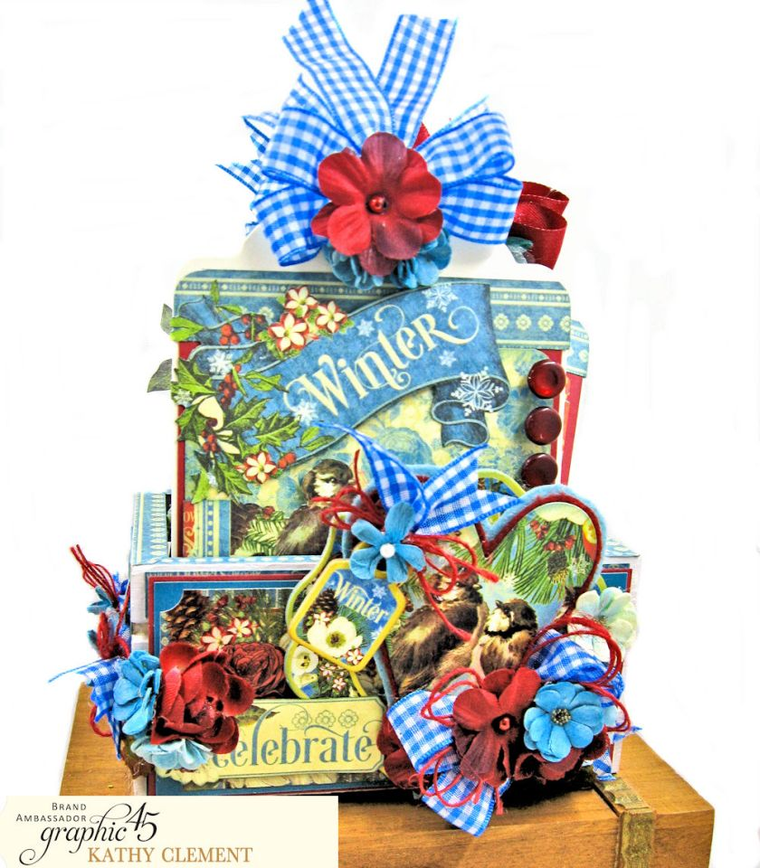 Graphic 45 Seasons Altered Mini Crate and Tags by Kathy Clement Photo 01