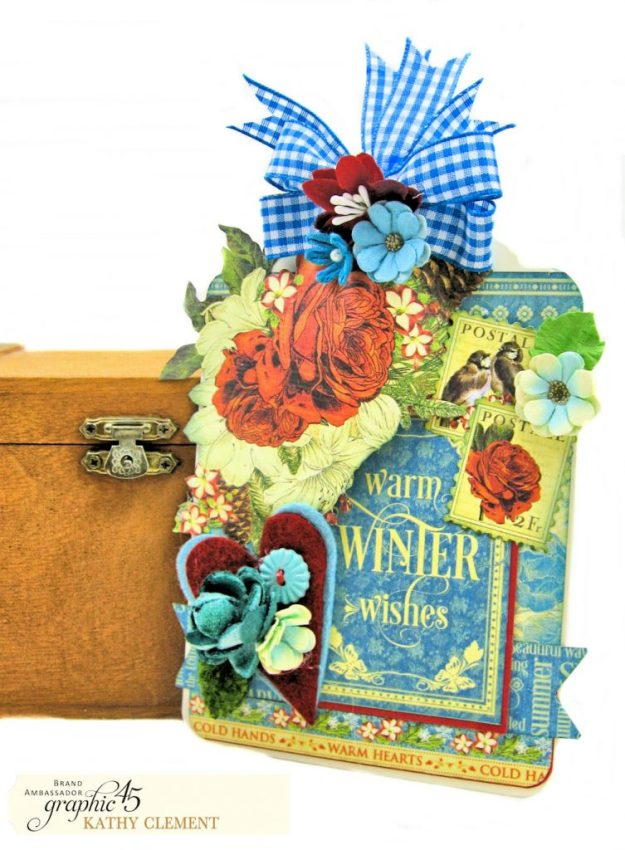 Graphic 45 Seasons Altered Mini Crate and Tags by Kathy Clement Photo 10