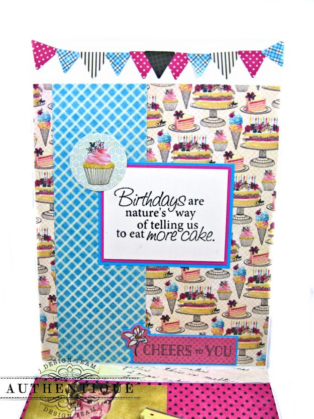His and Hers Birthday Card Folios Party by Kathy Clement Product by Authentique Paper Photo 07
