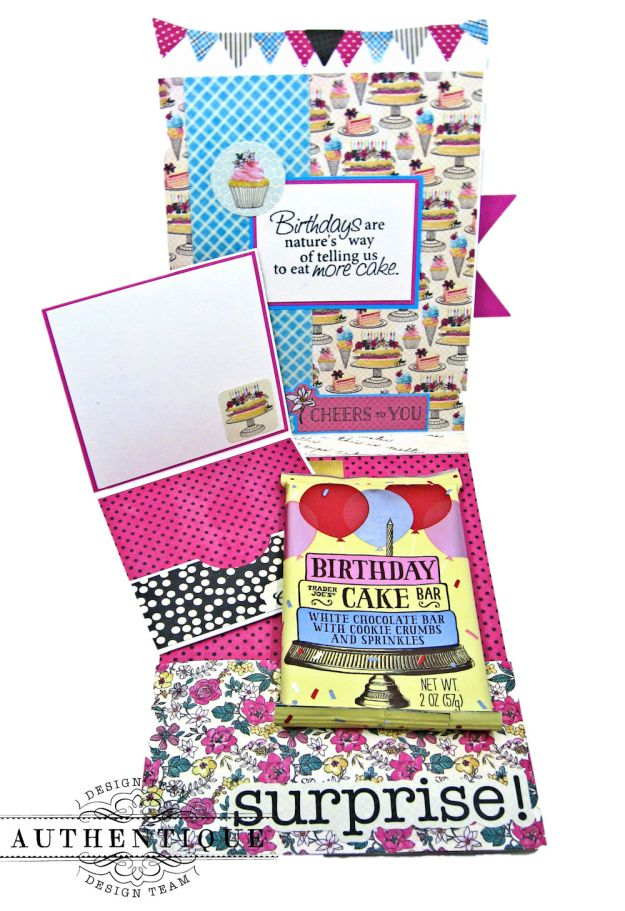 His and Hers Birthday Card Folios Party by Kathy Clement Product by Authentique Paper Photo 09