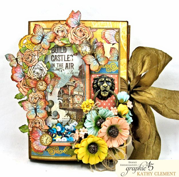 Imagine Castles in the Air Interactive Folio by Kathy Clement for the Funkie Junkie Boutique Product by Graphic 45 Photo 01