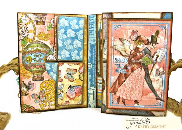 Imagine Castles in the Air Interactive Folio by Kathy Clement for the Funkie Junkie Boutique Product by Graphic 45 Photo 05