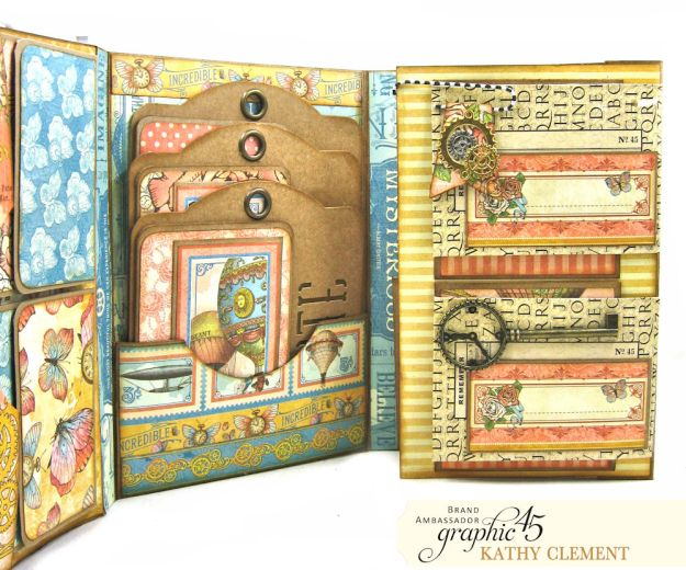 Imagine Castles in the Air Interactive Folio by Kathy Clement for the Funkie Junkie Boutique Product by Graphic 45 Photo 10