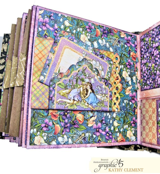 Fairie Dust Mini Album Fairie Dust by Kathy Clement Product by Graphic 45 Photo 07
