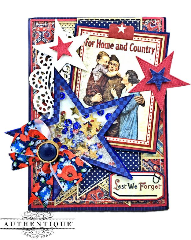 For Home and Country Memorial Day Card by Kathy Clement Photo 02